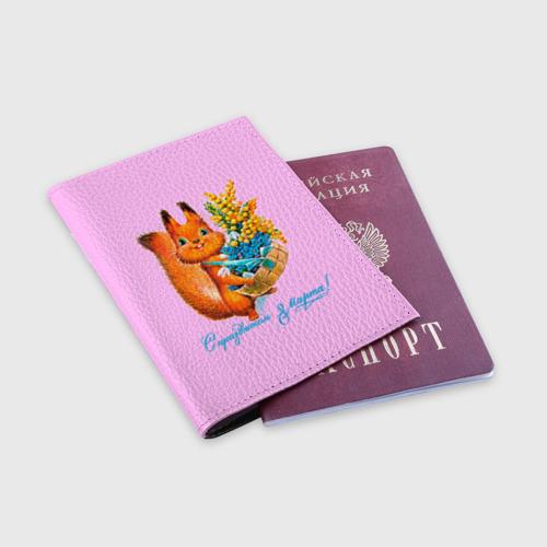Обложка для паспорта матовая кожа  Фото 03, Белка ретро