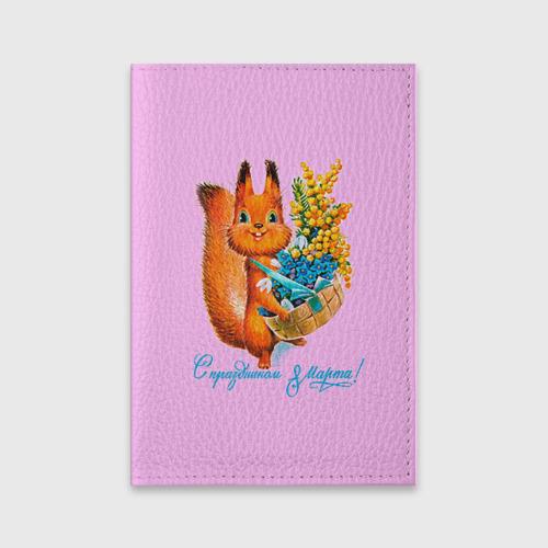 Обложка для паспорта матовая кожа  Фото 01, Белка ретро
