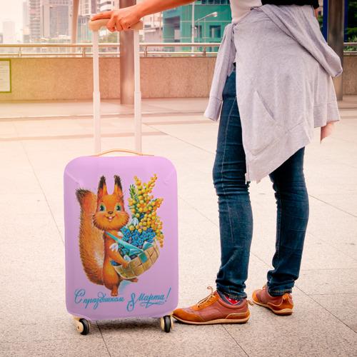 Чехол для чемодана 3D  Фото 04, Белка ретро
