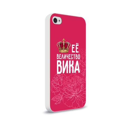 Чехол для Apple iPhone 4/4S soft-touch  Фото 02, Её величество Вика