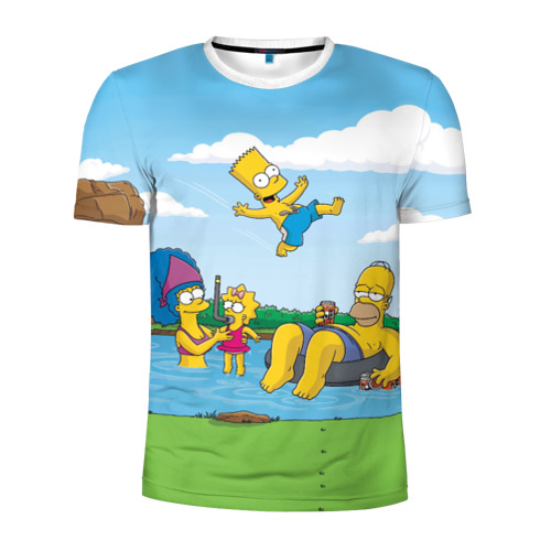 Мужская футболка 3D спортивная  Фото 01, The simpsons