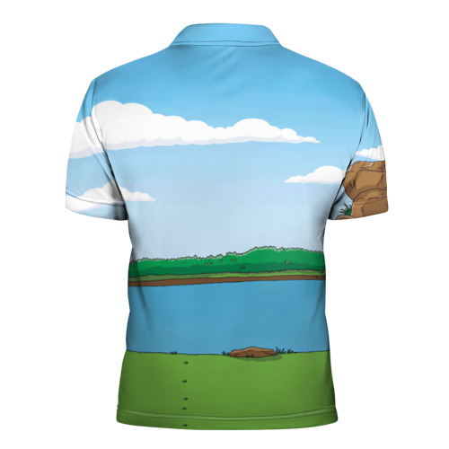 Мужская рубашка поло 3D  Фото 02, The simpsons