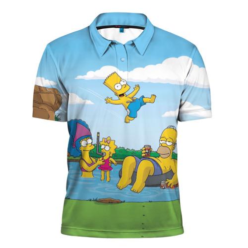 Мужская рубашка поло 3D  Фото 01, The simpsons