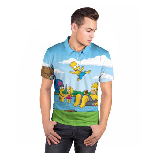 Мужская рубашка поло 3D  Фото 05, The simpsons