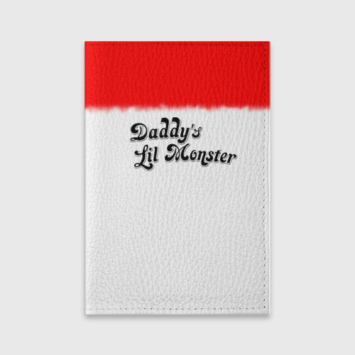 Обложка для паспорта матовая кожа Daddy's lil monster