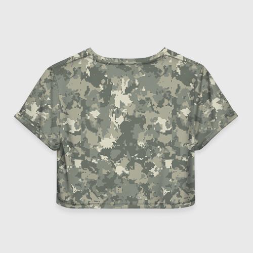 Женская футболка 3D укороченная  Фото 02, B III -