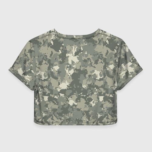Женская футболка 3D укороченная  Фото 02, O I -