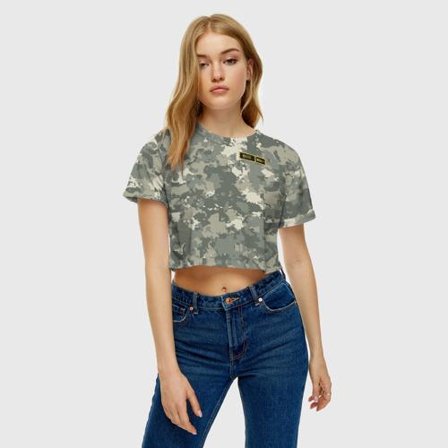 Женская футболка 3D укороченная  Фото 04, O I -