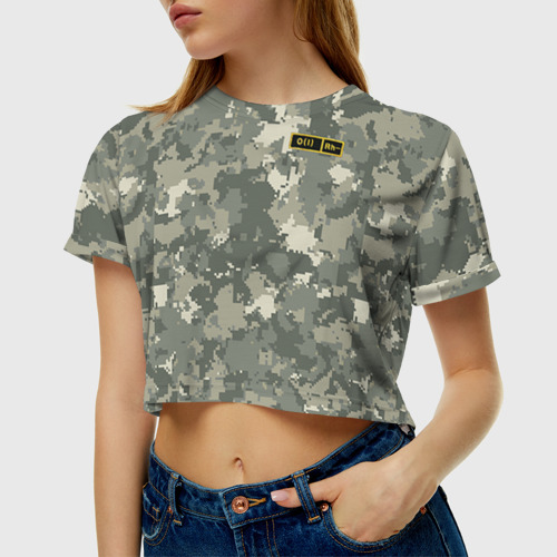 Женская футболка 3D укороченная  Фото 01, O I -