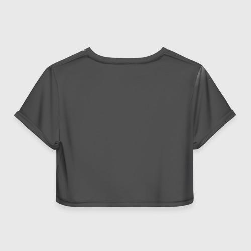 Женская футболка 3D укороченная  Фото 02, Воющий волк