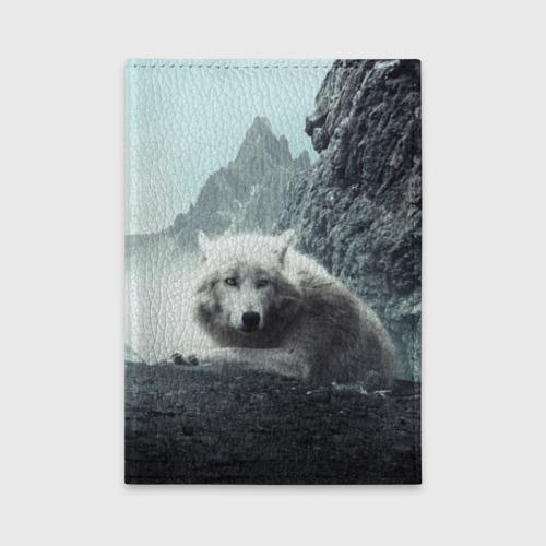 Обложка для автодокументов Волк в горах Фото 01