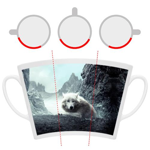 Кружка Латте  Фото 06, Волк в горах