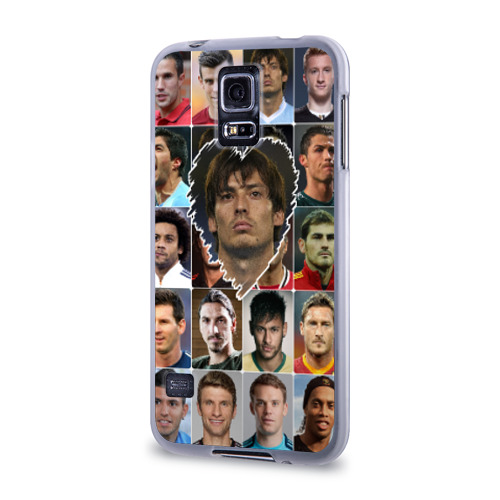 Чехол для Samsung Galaxy S5 силиконовый  Фото 03, Давид Сильва - лучший