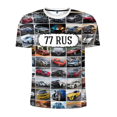 Мужская футболка 3D спортивная Крутые тачки (77 RUS) Фото 01