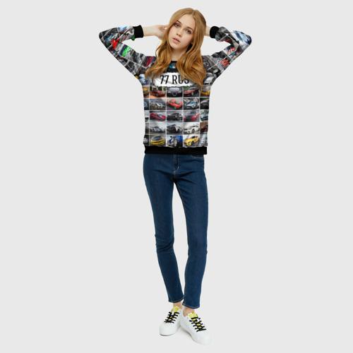 Женский свитшот 3D Крутые тачки (77 RUS) Фото 01