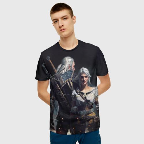 Мужская футболка 3D Geralt and Ciri Фото 01
