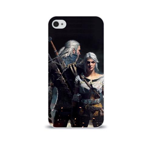 Чехол для Apple iPhone 4/4S soft-touch  Фото 01, Geralt and Ciri