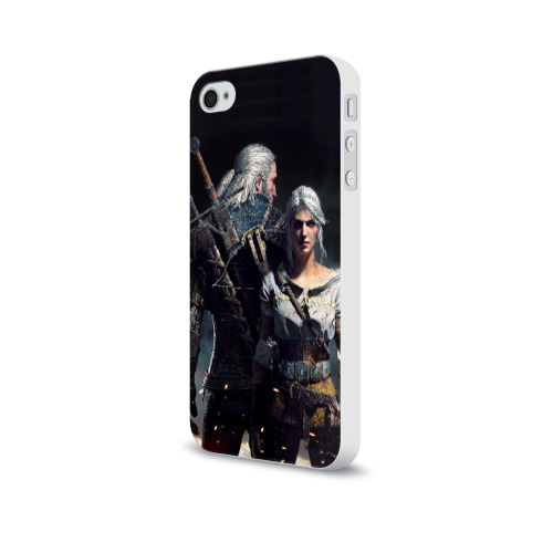 Чехол для Apple iPhone 4/4S soft-touch  Фото 03, Geralt and Ciri