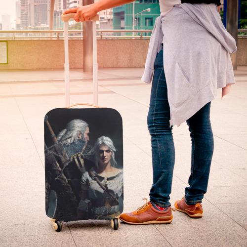 Чехол для чемодана 3D  Фото 04, Geralt and Ciri