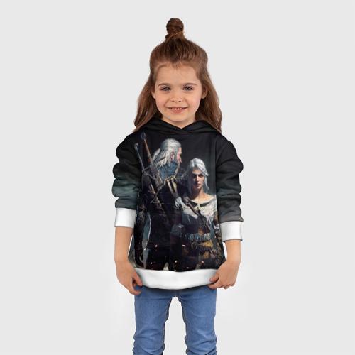 Детская толстовка 3D Geralt and Ciri