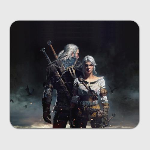 Коврик для мышки прямоугольный Geralt and Ciri Фото 01