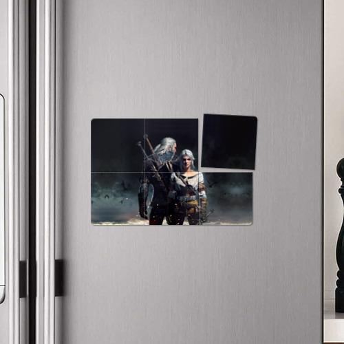 Магнитный плакат 3Х2 Geralt and Ciri Фото 01