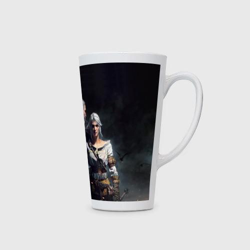 Кружка Латте Geralt and Ciri Фото 01