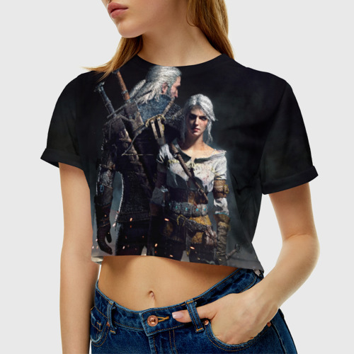 Женская футболка Cropp-top Geralt and Ciri