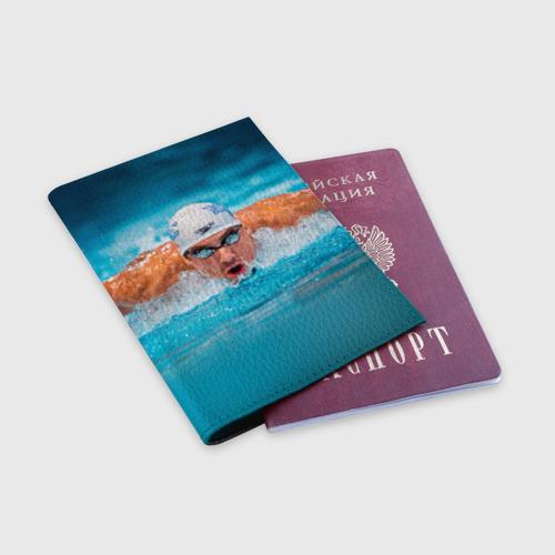 Обложка для паспорта матовая кожа  Фото 03, Пловец