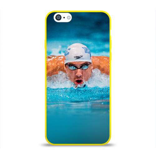 Чехол для Apple iPhone 6 силиконовый глянцевый  Фото 01, Пловец