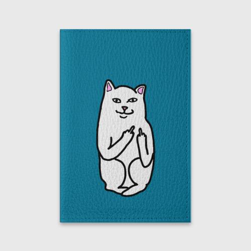 Обложка для паспорта матовая кожа Кот показывающий лапки от Всемайки