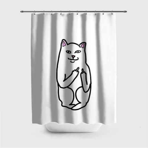 Штора для ванной Кот показывающий лапки от Всемайки