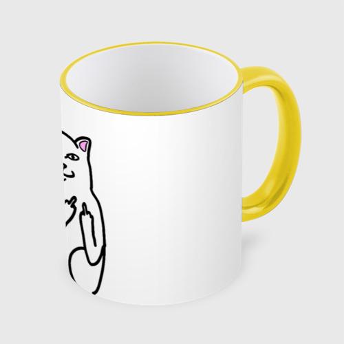 Кружка с полной запечаткой Кот показывающий лапки