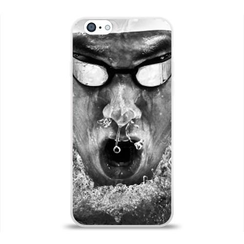 Чехол для Apple iPhone 6 силиконовый глянцевый Пловец