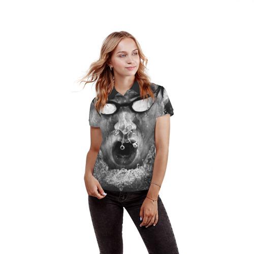 Женская рубашка поло 3D  Фото 03, Пловец