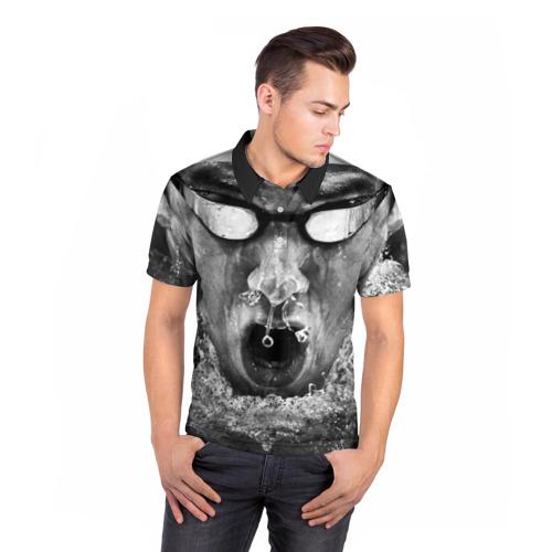 Мужская рубашка поло 3D  Фото 05, Пловец
