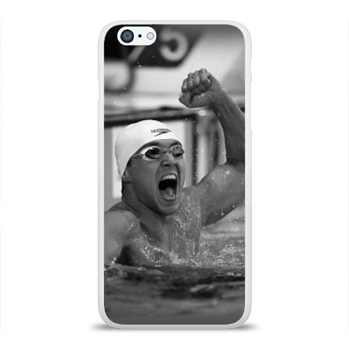 Чехол для Apple iPhone 6Plus/6SPlus силиконовый глянцевый  Фото 01, Пловец