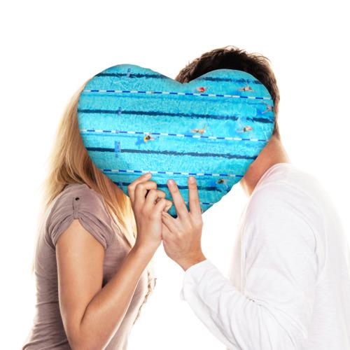 Подушка 3D сердце  Фото 03, Бассейн
