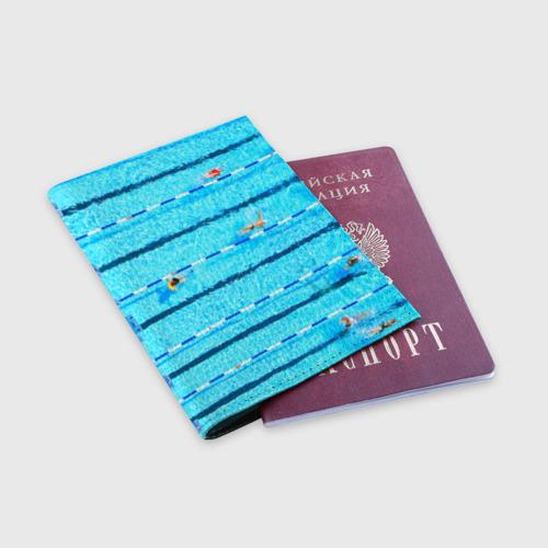 Обложка для паспорта матовая кожа  Фото 03, Бассейн