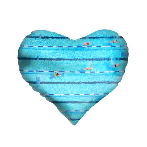 Подушка 3D сердце  Фото 01, Бассейн