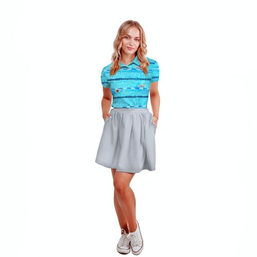 Женская рубашка поло 3D  Фото 04, Бассейн