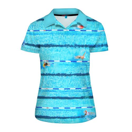 Женская рубашка поло 3D  Фото 01, Бассейн