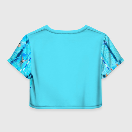 Женская футболка 3D укороченная  Фото 02, Бассейн