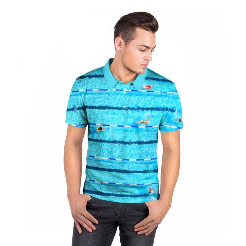 Мужская рубашка поло 3D  Фото 05, Бассейн