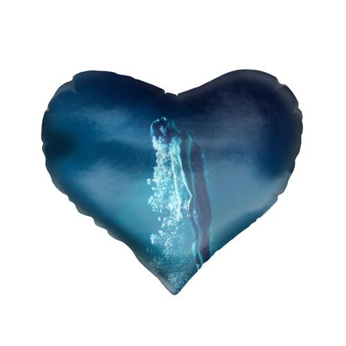 Подушка 3D сердце Под водой Фото 01