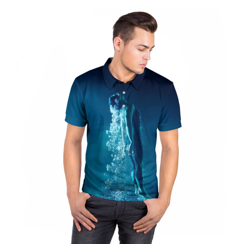 Мужская рубашка поло 3D  Фото 05, Под водой