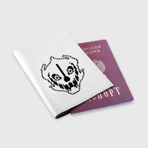 Обложка для паспорта матовая кожа  Фото 03, Undertale Gaster Blaster