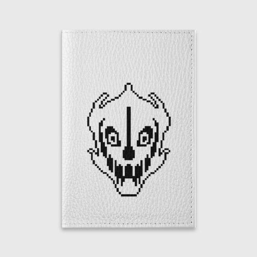 Обложка для паспорта матовая кожа  Фото 01, Undertale Gaster Blaster