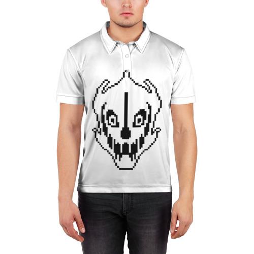 Мужская рубашка поло 3D  Фото 03, Undertale Gaster Blaster