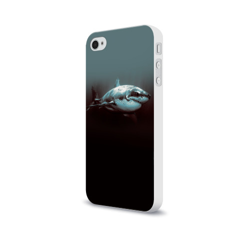 Чехол для Apple iPhone 4/4S soft-touch  Фото 03, Акула